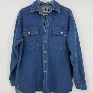 Harley-Davidson M Biker Blues Denim Cotton Shirt